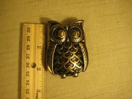 Owl Belt Buckle - Cast Brass - Small - $8.25