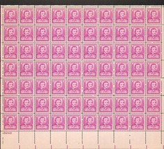 1949 Edgar Allan Poe Sheet of 70 US Postage Stamps Catalog Number 986 MNH