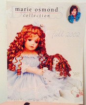 MARIE OSMOND Doll Collection Catalog Fall 2002—More Marie Catalogs Avail... - $14.85
