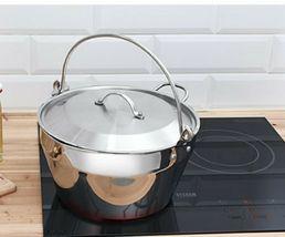 Kichenart Stainless Steel Induction Jam Pot Bucket Multipot Basket 9L (Lid) image 8