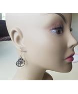 silver scorpion hoop earrings scorpio zodiac charm earrings dangles hand... - $2.50