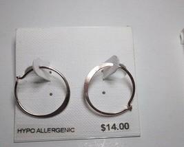 Charter Club Silver Hoop Hypo Allergenic Earrings - New - $7.92