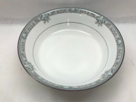 Vtg LEGENDARY Noritake LUNDEFORD 3884 Round SERVING BOWL White FLORAL Pl... - $29.69