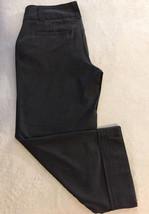 Anthropologie Elevenses Women Trouser Crop Pants Sz 4 Cuffed Belt-Loops No Belt - $23.99