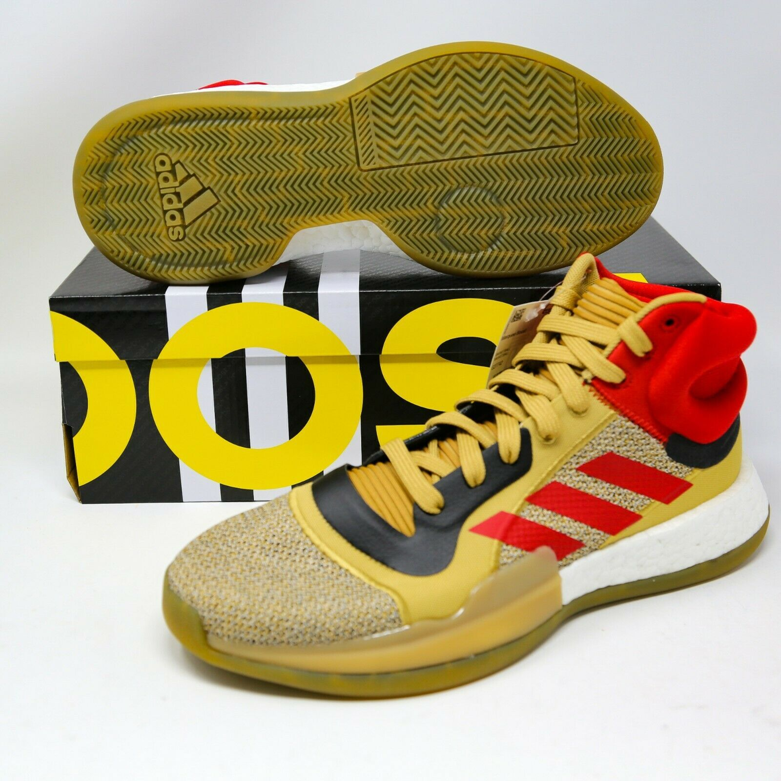 Primary image for adidas Marquee Boost Beige Gold Scarlet Red G27742 size 9.5 EUR 43,5 Basketball