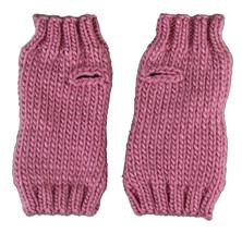 Bench Leyko Woodley Fingerless Acrylic Knit Pink Gloves image 2