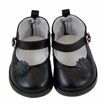 "18"" Doll Black Mary Jane Style Shoes, Clothing Accessories Fits American... - $10.39"