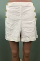 """NWT Womens Anne Klein White Sailor Style Button Front Shorts Sz 14 5"""" In... - $24.74"""