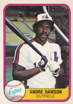 1981 Fleer Andre Dawson #145 Montreal Expos Marlins Cubs Baseball Card HOF - $1.19