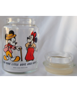 Disney Mickey and Minnie Mouse Anchor Hocking Jar For Good Little Boys A... - $39.99