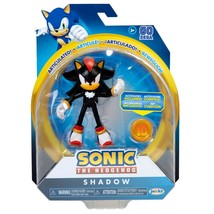 New Articulated Shadow Sonic Hedgehog Jakks Pacific Figure with Super Ring - $49.49