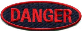 Danger sign signal warning caution alert applique iron-on badge patch ne... - $2.98
