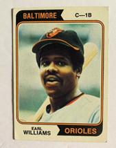 Topps 1974 Baltimore Orioles Earl Williams C-1B #375 Baseball Card Good - $4.99