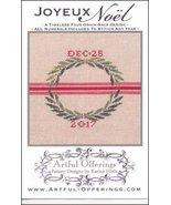 Joyeux Noel cross stitch chart Artful Offerings  - $9.00