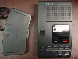 Sony M2000 microcassette transcriber with foot pedal, AC adapter and new... - $189.99