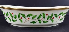 """LENOX China Holiday Dimension 10-1/4"""" Oval Vegetable Bowl Dinnerware image 3"""
