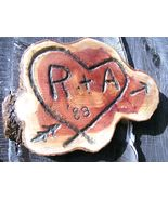 Personalized Kissing Tree carving, Wedding, Anniversary, Housewarming gift - $54.98
