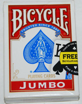 Bicycle Jumbo Face Playing Cards Deck Standard Size Made In USA USED - $5.99