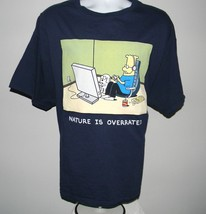 Mens Dilbert T Shirt Nature is Overated XXL Dogbert Gamer chips soda video games - $21.73