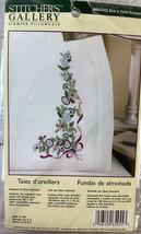 Bucilla Stamped Cross Stitch Pillowcases Blue & Violet Bouquet Flowers NEW - $14.00
