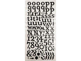 Thickers Puffy Letters and Numbers Stickers, Lowercase, Black image 2