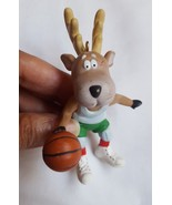 1988 Hallmark Keepsake Ornament Prancer Basketball Reindeer Champs vinta... - $10.88