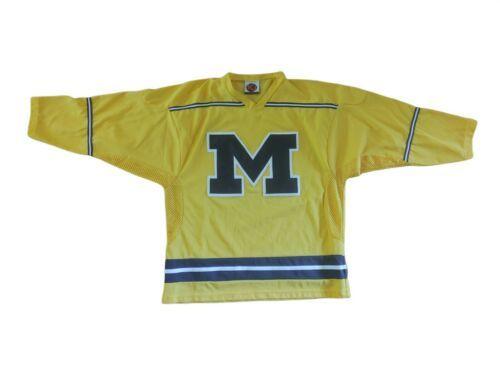 Vintage K1 Sportswear NCAA Michigan Wolverines Hockey Jersey Mens L Sewn USA - $52.25