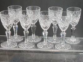 8 Ashford Signed Galway crystal port glass Crystal older Hand cut - $82.87