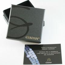 Pulsera Giadan de Plata 925 Hematites Lucida y 8 Diamantes Negros Hecho en Italy image 3
