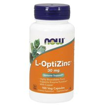 Now Foods L-OptiZinc 30 mg - 100 Veg Capsules FRESH,  MADE IN USA - $21.68