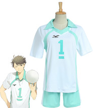 Haikyuu Aoba Johsai High School Uniform Cosplay Jersey NO.1 oikawa tooru costume - $28.99