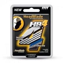 HeadBlade Men's HB4 Refill Shaving Razor Blades 4 Blades image 2