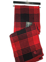 "Ralph Lauren Red Buffalo Plaid thick cotton throw Blanket 54"" x 72 "" nwt - $98.95"