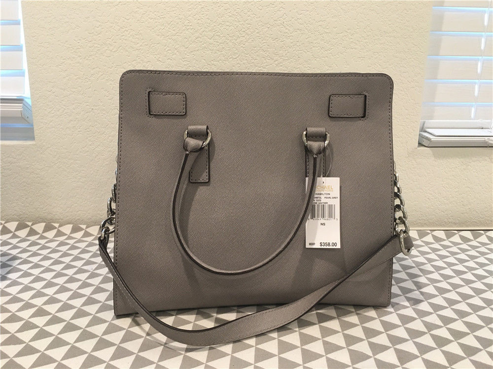 28f4e2f6181f57 Michael Kors LARGE DILLON Saffiano LEATHER DOVE TOTE 30H5SAIT3L