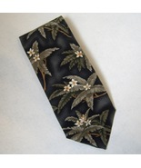 Pelican Bay Neck Tie 100% Silk Tropical Flowers Palm Leaves Men Hand Sew... - $20.00