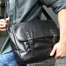 Sale, Retro Men Messenger Bag, Full Grain Leather Briefcase, Tote, Laptop Bag image 1