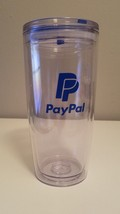 PayPal Tumbler Drinking Water Glasses Clear w/ Logo Ebay Open 2018 - $25.73