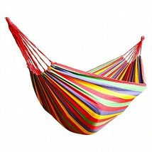 Portable Brazilian Hammock Camping SUMMER Cotton Rope Swing Bed Canvas w... - $9.88+