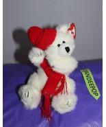 """Ty Poseable Peppermint Polar Bear Stuffed Animal 1993 9"""" - $9.89"""