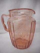 """Vintage Pink Mayfield Open Rose Water Pitcher 8 1/2""""h - $84.65"""