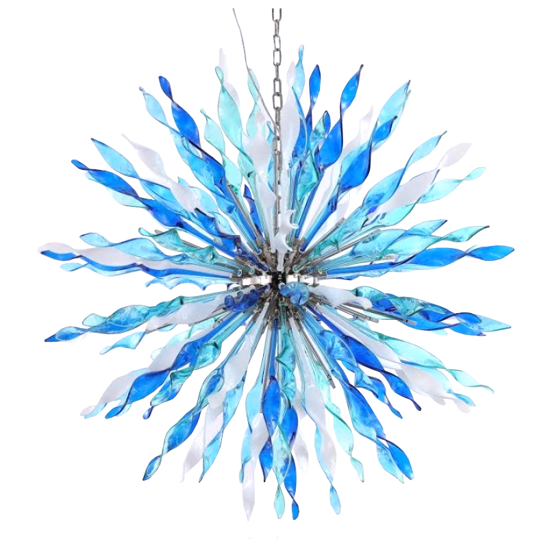 "AM6004: ""Apollo"" Iris Cristal Bohemia Glass Chandelier (18""-70""W) $1,620+ - $1,620.00"