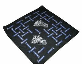 RARE Michelin Man Motorcycle rider Blue Bandana Handkerchief scarf hanki... - $9.40