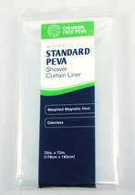 Shower Curtain Liner Maytex Clear Odorless Chloride-Free PEVA Weighted H... - $11.33