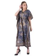 Hippy Boho Maxi Long Kaftan Dress Women Caftan Top Tunic Dress Gown Gray... - $7.19