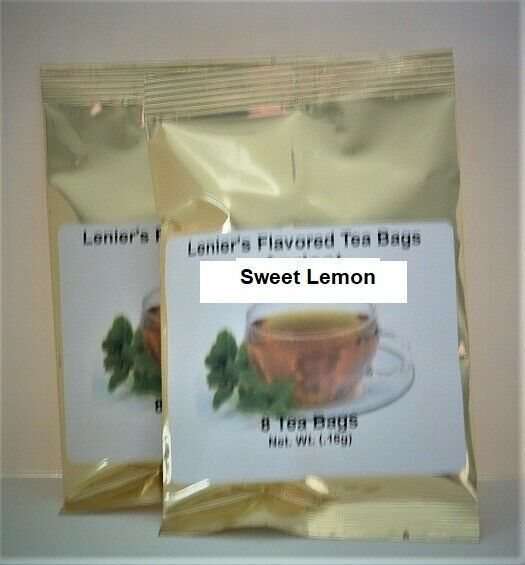 Lenier's English Style Sweet Lemon flavored 2/8 count (16) tea bags - $4.59