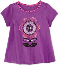 First Impressions Baby Girls' Dotted Flower T-Shirt, Plum Fizz , Size 6-9 Months - $8.90
