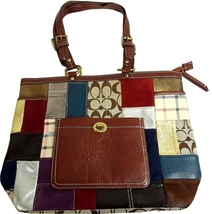 Coach Multi-Colored Patchwork Limited Edition Tote Bag ZD2J7 11366 - $29.95