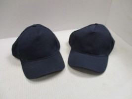 1 PAIR NEW-VINTAGE ALL DARK BLUE/NAVY CAPS/HATS-6 PANEL-BUCKLE-HARRITON[... - $5.90