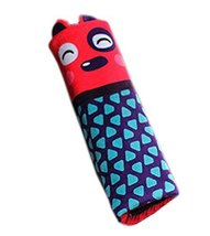 Creative Safe Car Soft Seat Belt Strap Cover, Lovely Catoon Cat, Red