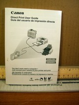 Manual/instruction booklet Canon Direct Print User Guide English/Spanish... - $7.19